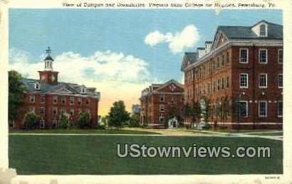 Dormitories College For Negrose  - Petersburg, Virginia VA Postcard