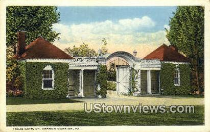 Texas Gate  - Mount Vernon, Virginia VA Postcard