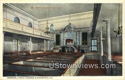 Interior Christ Church  - Alexandria, Virginia VA Postcard