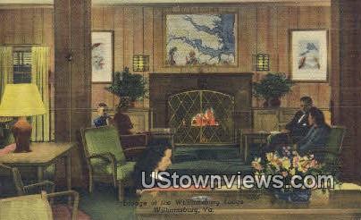 Lounge In The Lodge  - Williamsburg, Virginia VA Postcard