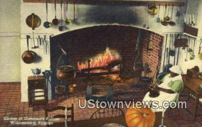 Kitchen Of Governors Palace  - Williamsburg, Virginia VA Postcard