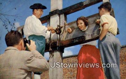 Th Public Gaol - Williamsburg, Virginia VA Postcard