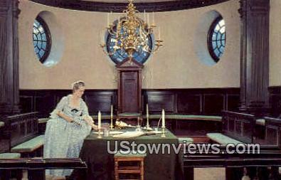 Chamber of House Of Burgesses  - Williamsburg, Virginia VA Postcard