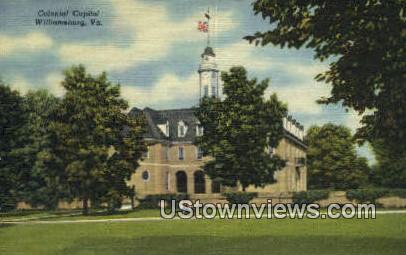 Colonial Capitol  - Williamsburg, Virginia VA Postcard