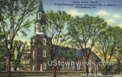 Bruton Parish Church  - Williamsburg, Virginia VA Postcard