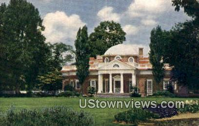 Monticello West Front  - Charlottesville, Virginia VA Postcard