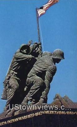 Flag Raising On Iwo Jima  - Arlington, Virginia VA Postcard