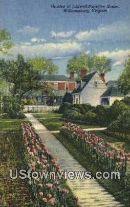 Garden Of Ludwell Paradise House  - Williamsburg, Virginia VA Postcard