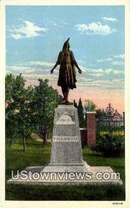 Jamestown Island, Virginia, VA, Postcard