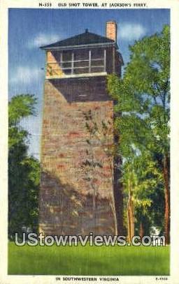 The Old Shot Tower  - Wytheville, Virginia VA Postcard