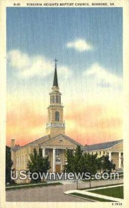 Virginia Height Baptist Church  - Roanoke Postcard