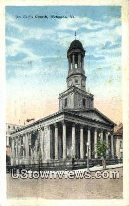 St Pauls Church  - Richmond, Virginia VA Postcard