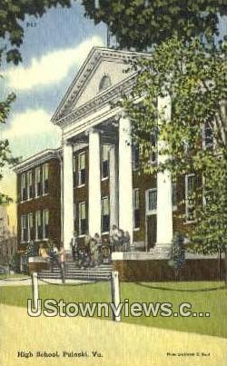 High School    - Pulaski, Virginia VA Postcard