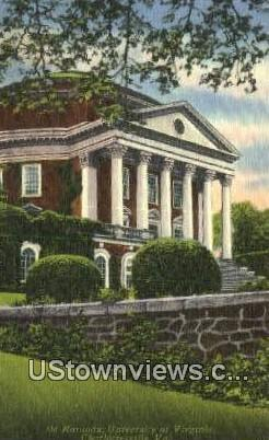 Rotunda University Of Virginia  - Charlottesville Postcard