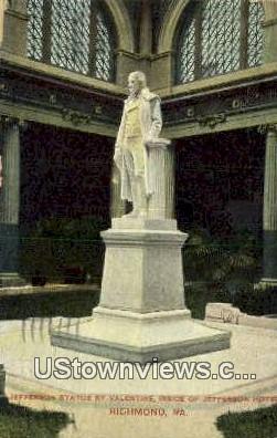 Jefferson Statue - Richmond, Virginia VA Postcard