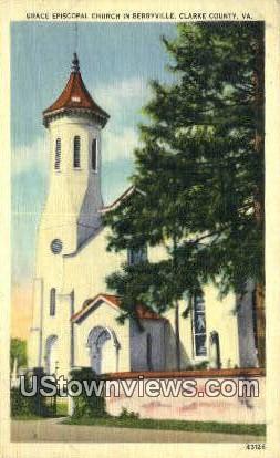 Grace Episcopal Church  - Berryville, Virginia VA Postcard