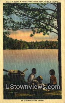 Scene In Fairy Stone State Park  - Patrick County, Virginia VA Postcard