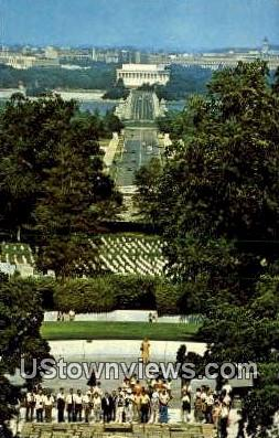 The Grave Of JFK  - Arlington, Virginia VA Postcard