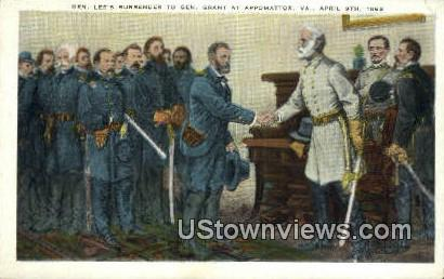 Lee Surrender To Grant  - Appomattox, Virginia VA Postcard
