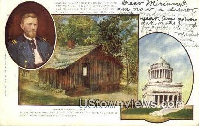 General Grants Cabin  - City Point, Virginia VA Postcard