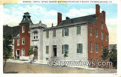 George Washington a Mason  - Fredericksburg, Virginia VA Postcard