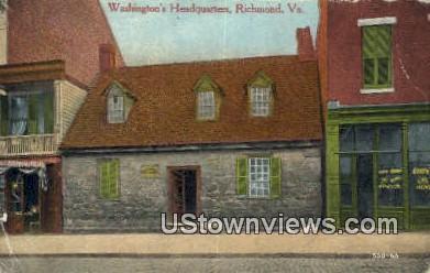 Washingtons Headquarters  - Richmond, Virginia VA Postcard
