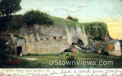 Cornwallis Hiding Place  - Yorktown, Virginia VA Postcard