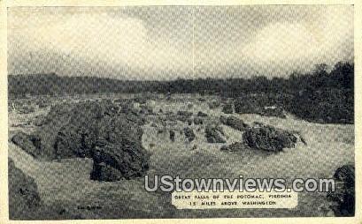 Great Falls of The Potomac  - Virginia VA Postcard