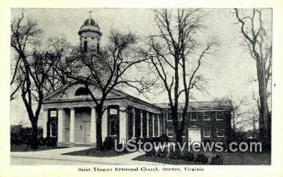 Saint Thomas Episcopal Church  - Orange, Virginia VA Postcard