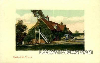 Stable  - Mount Vernon, Virginia VA Postcard