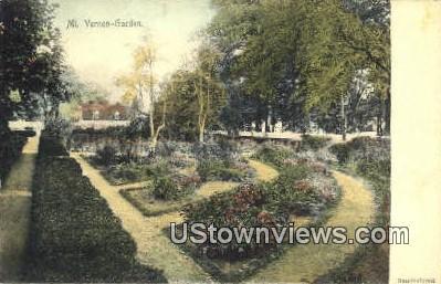 Garden    - Mount Vernon, Virginia VA Postcard