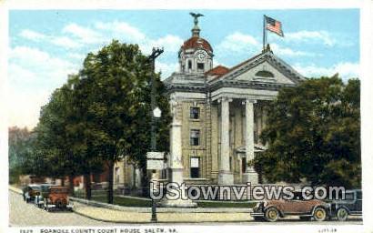 Roanoke County Court House  - Salem, Virginia VA Postcard