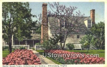 Market Square Tavern Outbuildings - Williamsburg, Virginia VA Postcard