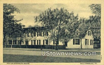 Peyton Randolph House  - Williamsburg, Virginia VA Postcard