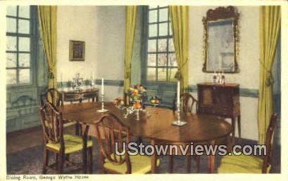 Dining Room Wythe House  - Williamsburg, Virginia VA Postcard