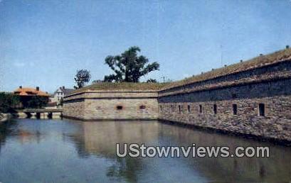 Walls And Moat  - Fort Monroe, Virginia VA Postcard