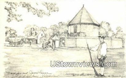 Magazine Guardhouse  - Williamsburg, Virginia VA Postcard