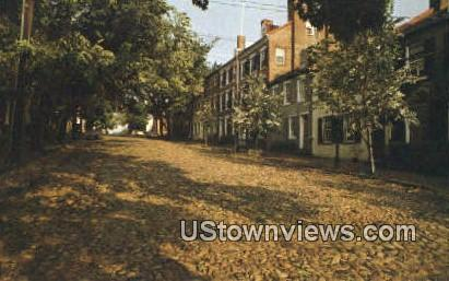 Captains Row  - Alexandria, Virginia VA Postcard