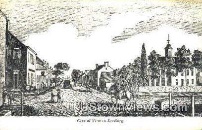 Central View In Leesburg  - Virginia VA Postcard