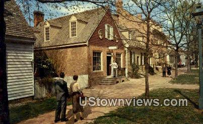 Margaret Hunter Shop & Golden Ball  - Williamsburg, Virginia VA Postcard