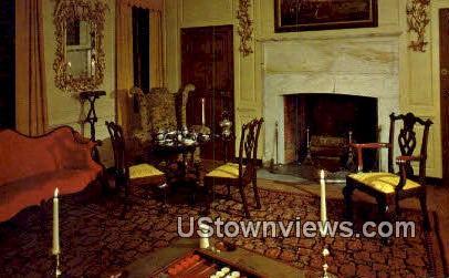 Parlor of Peyton Randolph House  - Yorktown, Virginia VA Postcard