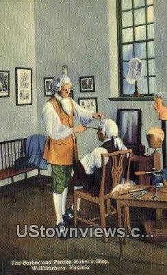 The Barber & Peruke Makers Shop  - Williamsburg, Virginia VA Postcard