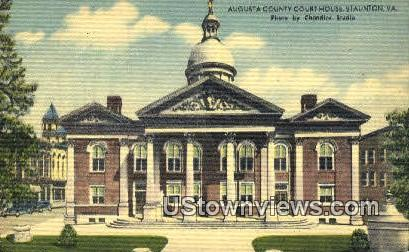 Augusta County Court House  - Staunton, Virginia VA Postcard