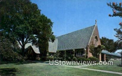Main Base Chapel  - Langley Field, Virginia VA Postcard