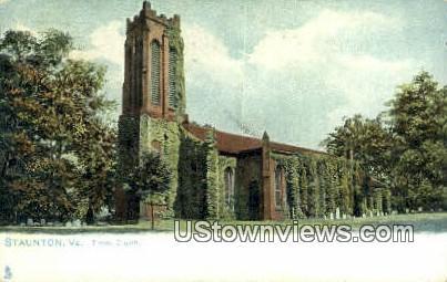 Trinity Church - Staunton, Virginia VA Postcard