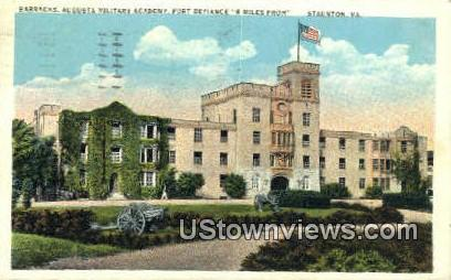 Barracks Augusta Military Academy  - Staunton, Virginia VA Postcard