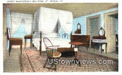 George Washingtons Bedroom  - Mount Vernon, Virginia VA Postcard