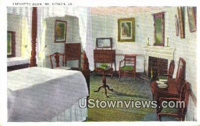 Lafayette Room  - Mount Vernon, Virginia VA Postcard
