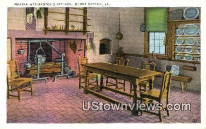 Martha Washingtons kitchen  - Mount Vernon, Virginia VA Postcard