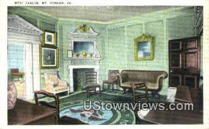 West Parlour  - Mount Vernon, Virginia VA Postcard